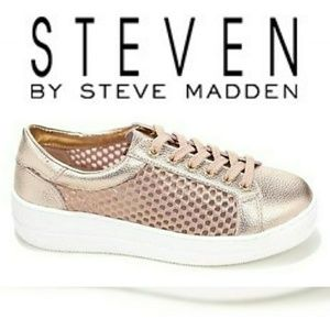 "Steven by Steve Madden ""NEON"" Rose Gold Mesh Shoes"